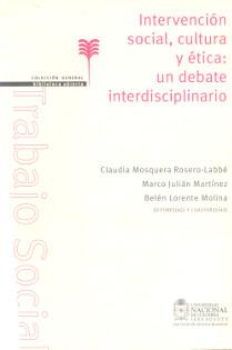 Portada libro intervención social, cultura y ética: un debate interdisciplinario
